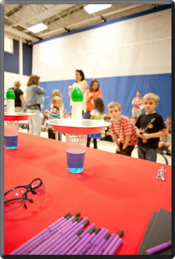 Tournament of Science Show Setting Up />